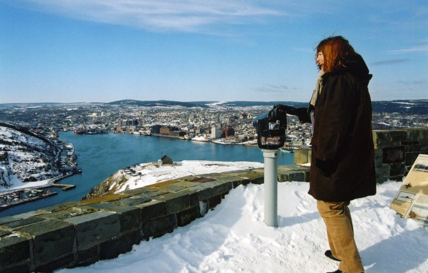 High above St. John's Harbour on Signal Hill